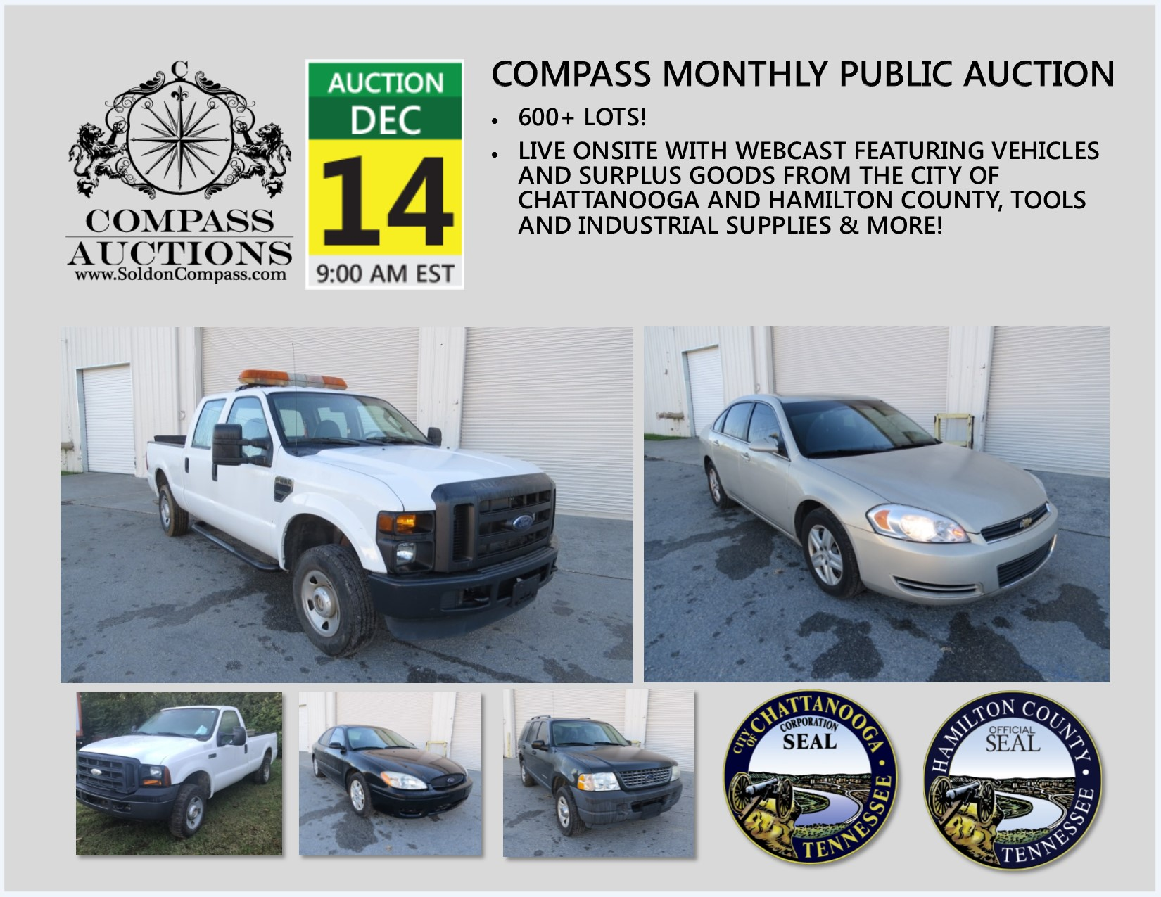 Compass Monthly Public Auction December 14