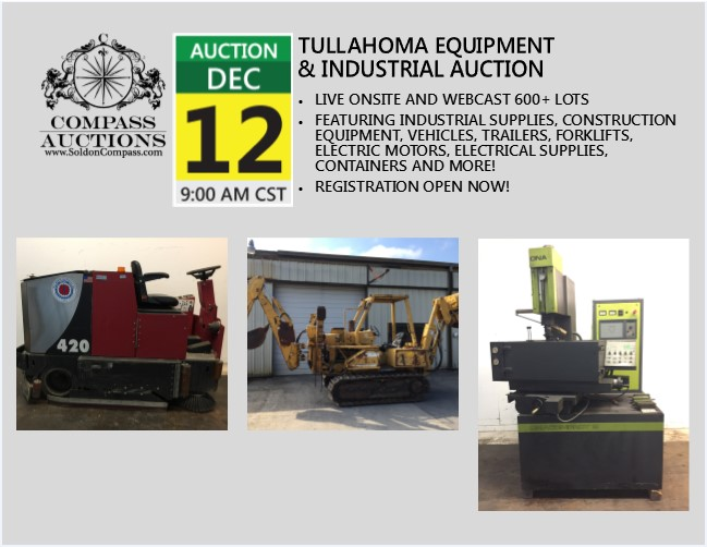 December 12 Tullahoma TN Industrial Auction