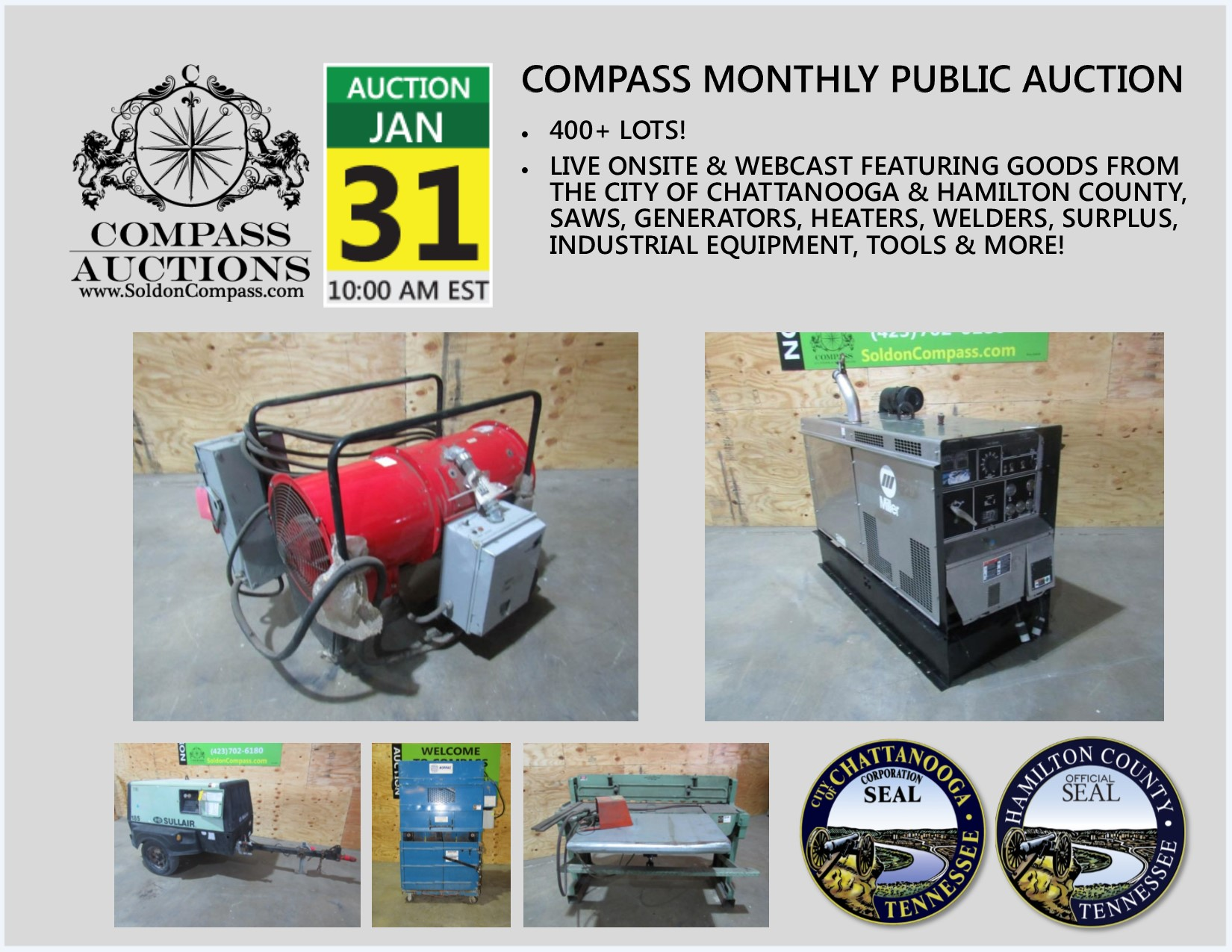 Compass Monthly Public Auction January 31