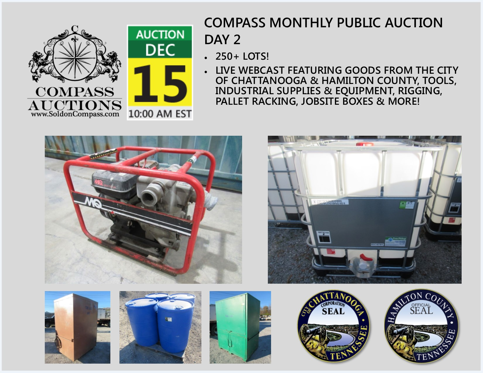 Compass Monthly Public Auction Day 2 December 15