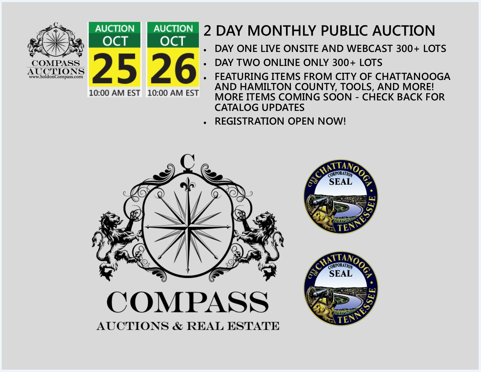 2 day monthly auction october 25 october 26 2017