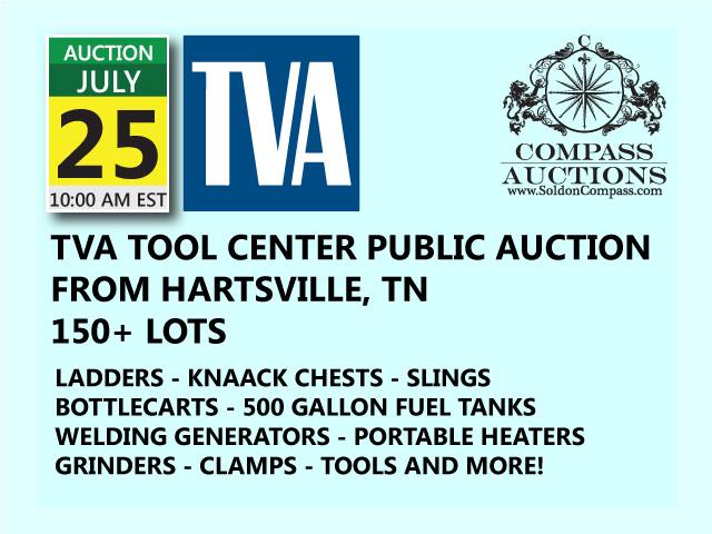 TVA tool center auction july 25 2017