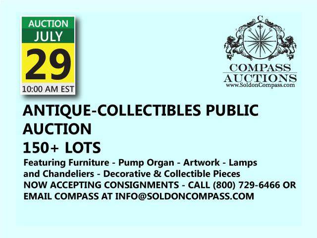 antique collectibles public auction july 29 2017