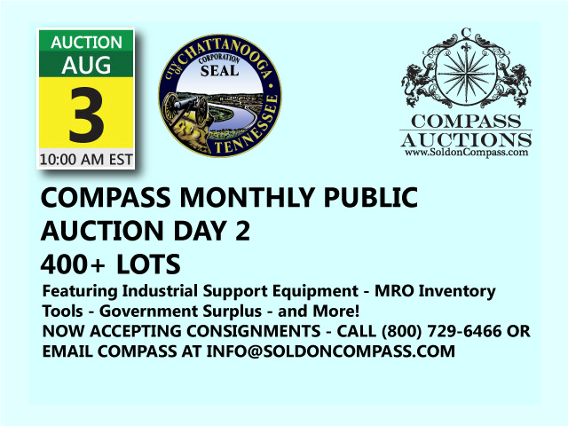 compass monthly public auction august 3 2017