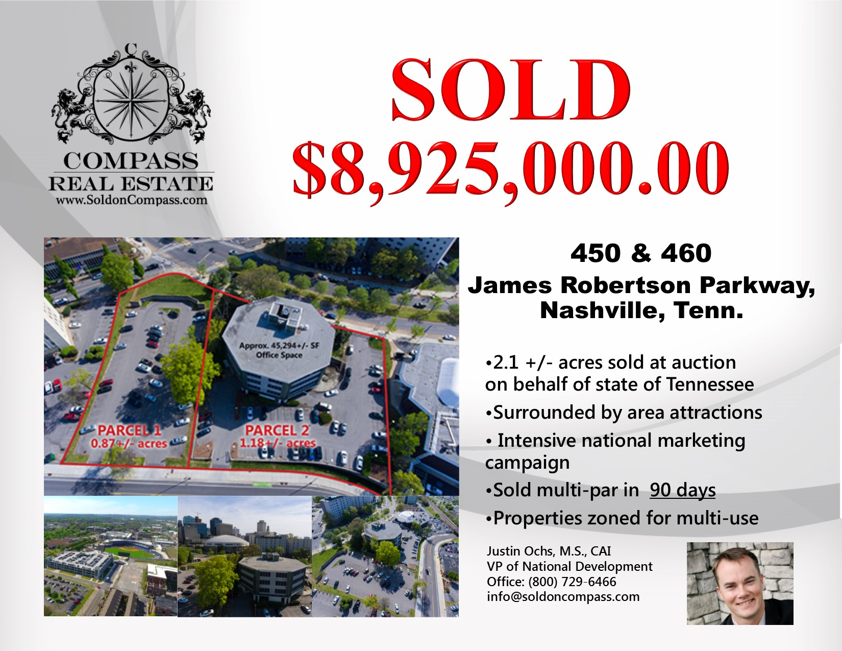 compass auction sells downtown nashville properties
