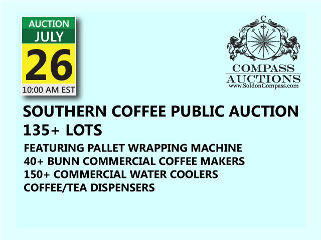 Southern coffee inventory public auction july 26 2017
