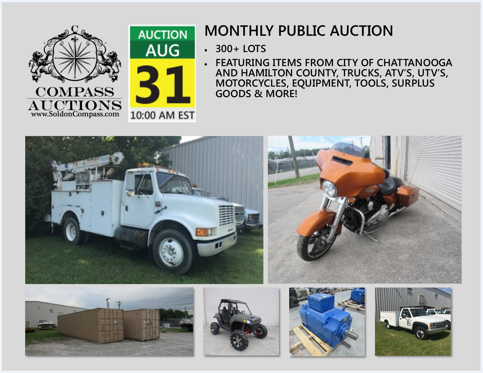 Compass Monthly Public Auction August 31 2017
