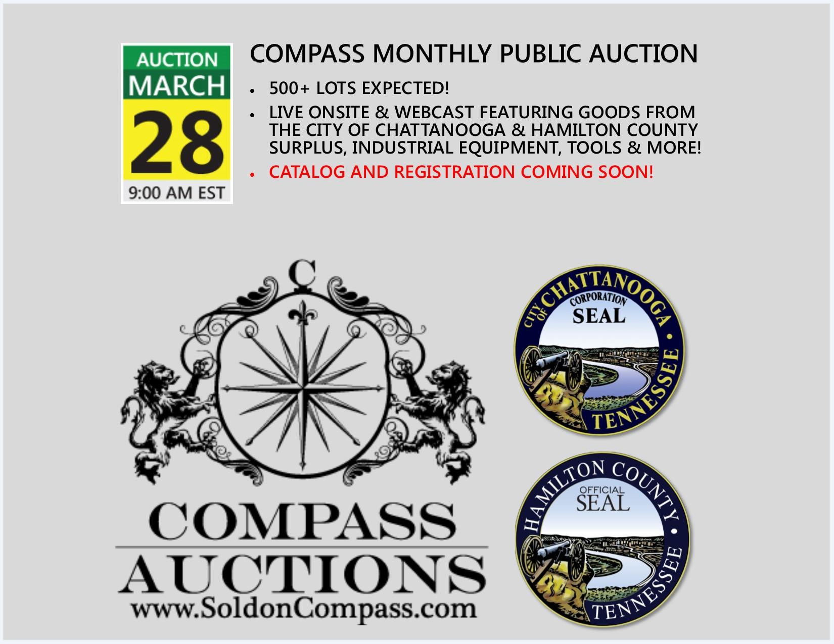 Compass Auction March 2018 government surplus public auction