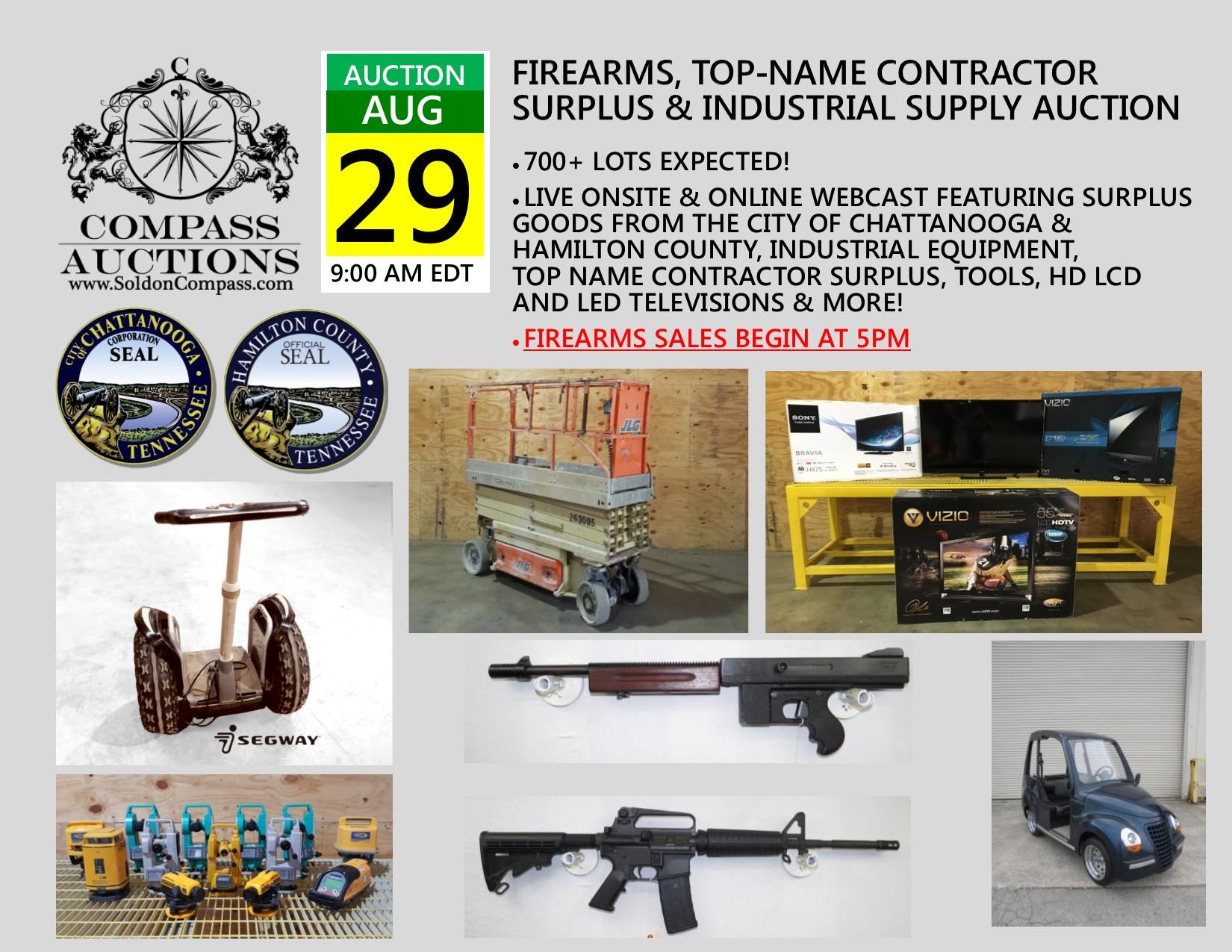 Government Surplus Public Auction August 2018 Compass Auctions