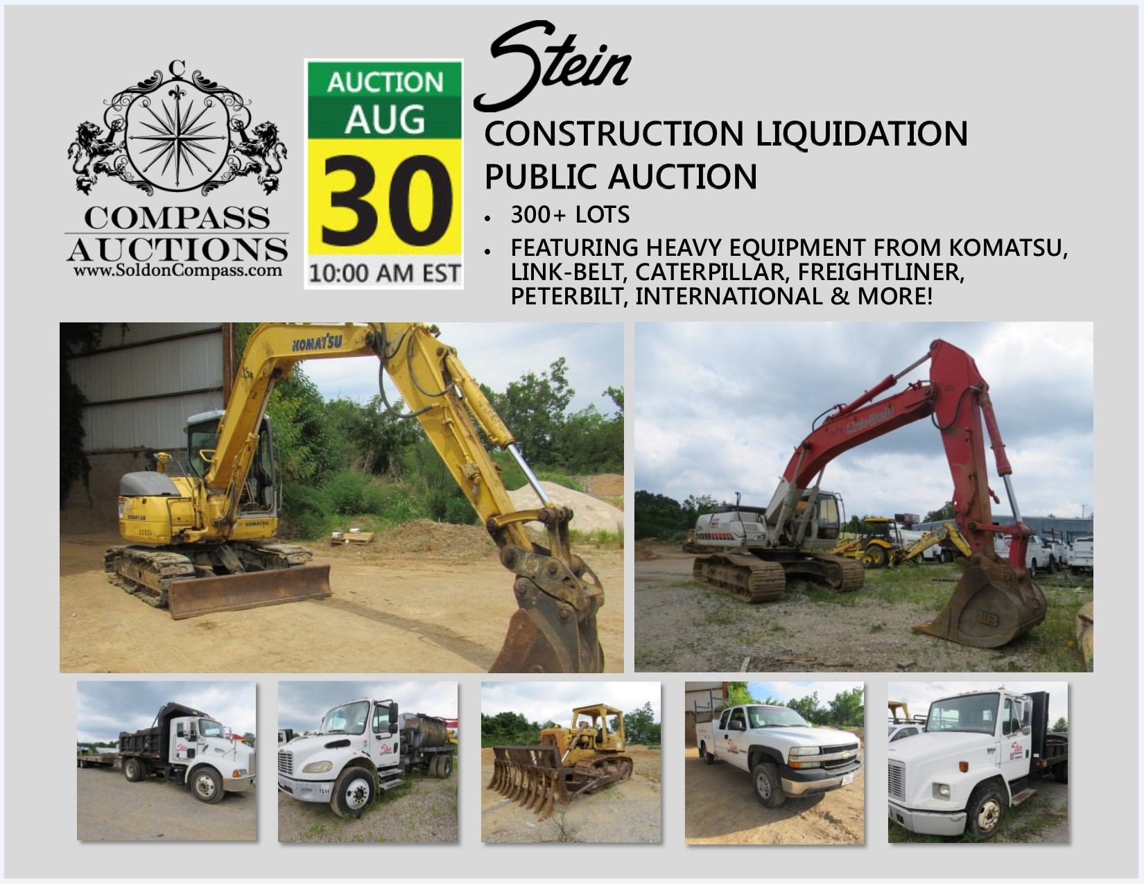 Stein Construction Liquidation Auction August 30, 2017