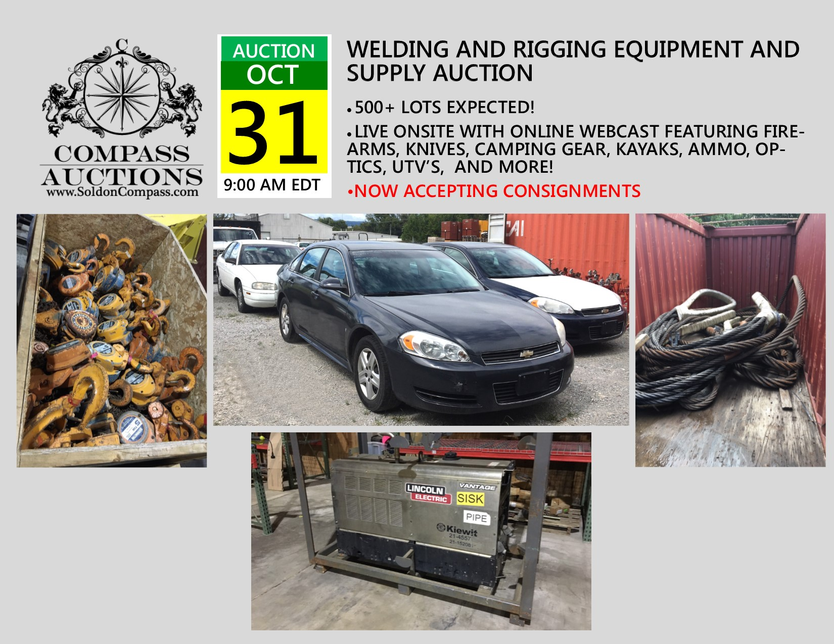 National Contractor Welding, Rigging, Vehicles and Equipment COMPASS AUCTIONS