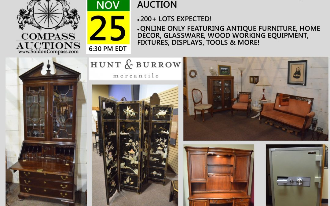 Hunt & Burrow Mercantile Antique Auction