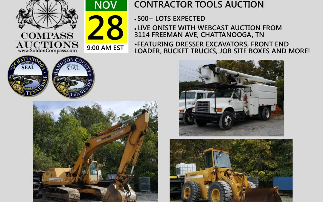 Heavy Equipment, Vehicles and Contractor Tools
