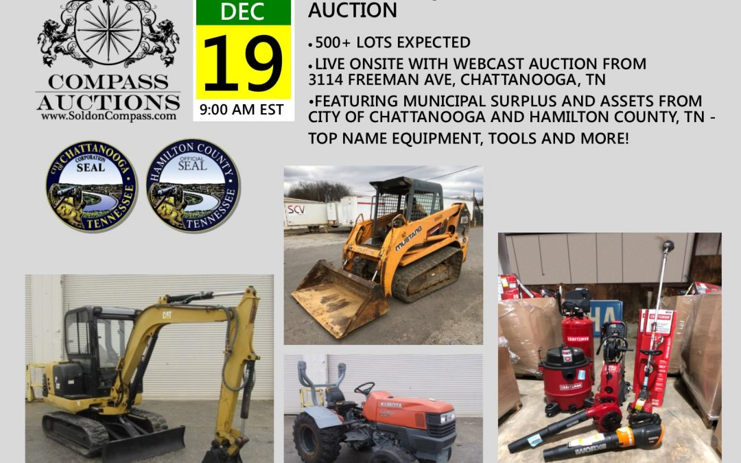 Year End Equipment and Tools Auction