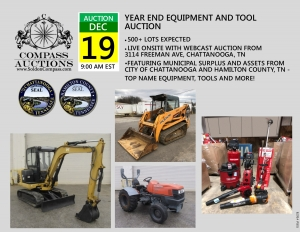compass auctions year end equipment tool auction