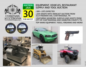 January public auction government surplus vehicles restaurant supply firearms atv compass auctions