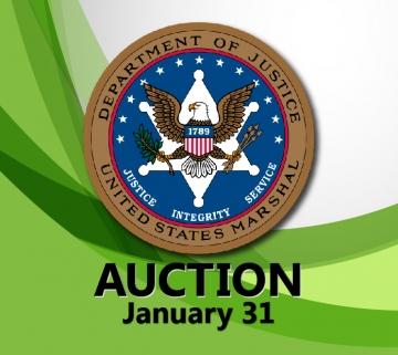 United States Marshals Service seized property public auction January 2019