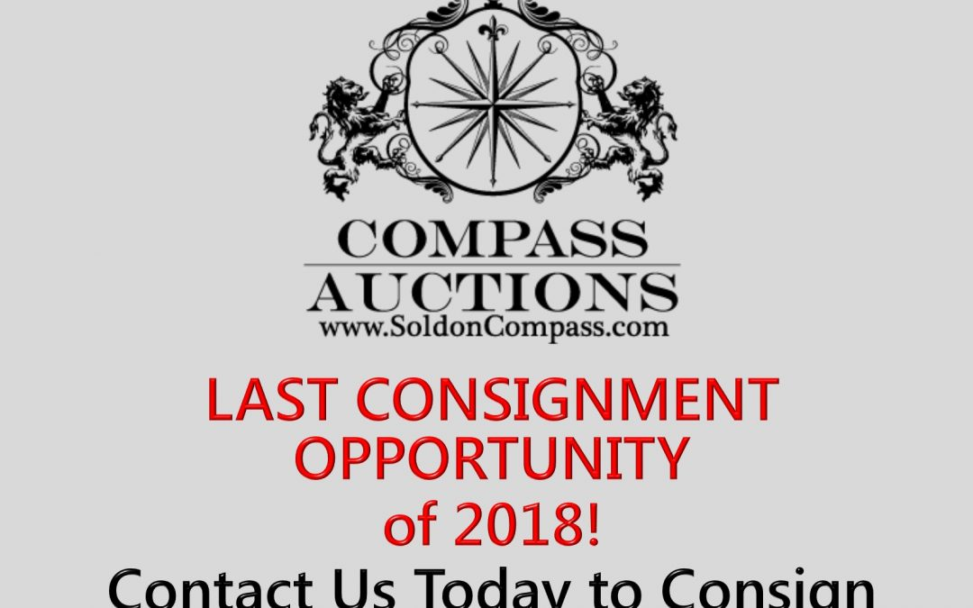 Last Consignments for 2018