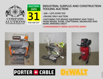 online only auction industrial surplus construction tooling january 2019 compass auctions