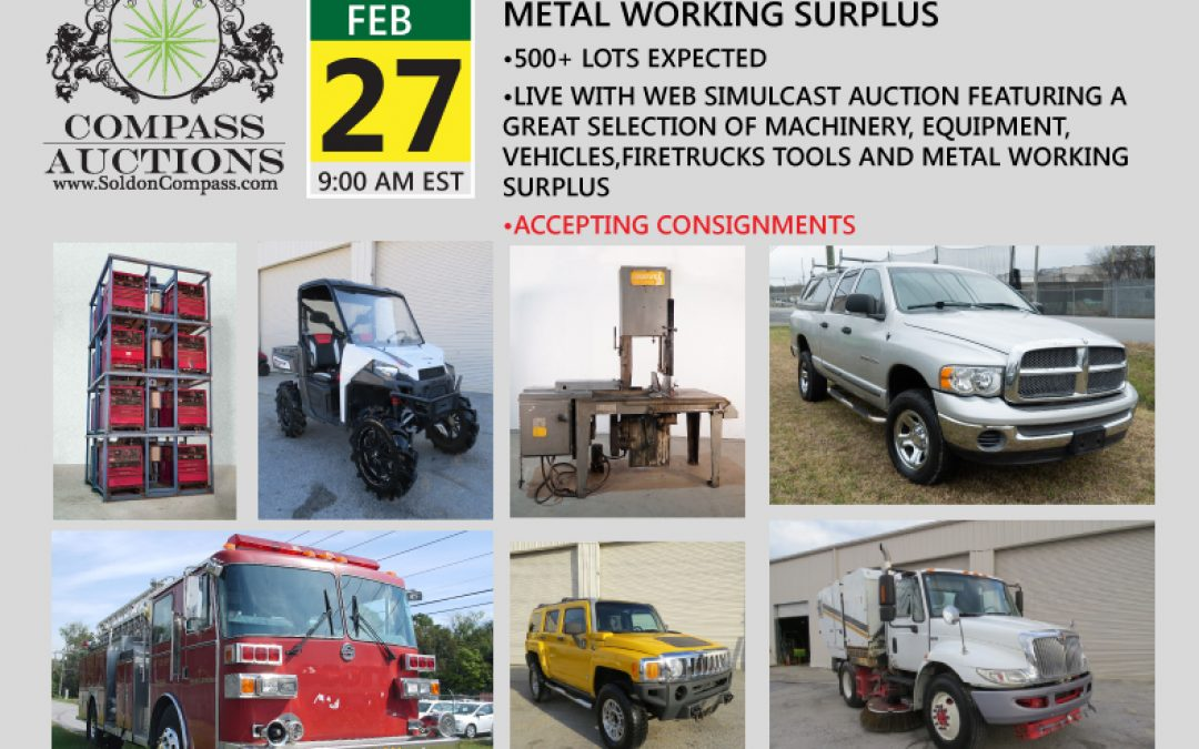 Machinery, Equipment, Tools and Metal Working Supply