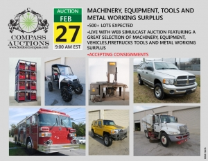 February Live Online Auction Machinery Tools Firetrucks Vehicles City of Chattanooga Hamilton County Surplus Assets