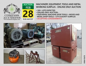 february online auction contractor grade tools equipment