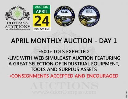 April monthly live online auction Compass