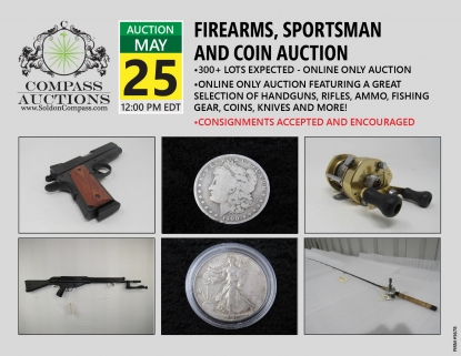 May military firearms coins clothing online auction Compass