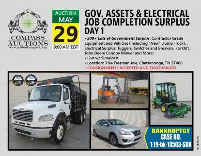 May 2019 Live Online Public Auction Municipal Freightliner Dump Truck Bankruptcy Sentra Vehicles Transport Truck