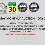 monthly live online auction Compass May