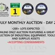 July monthly online auction Compass
