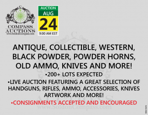 August collectible antique firearms ammo knives auction