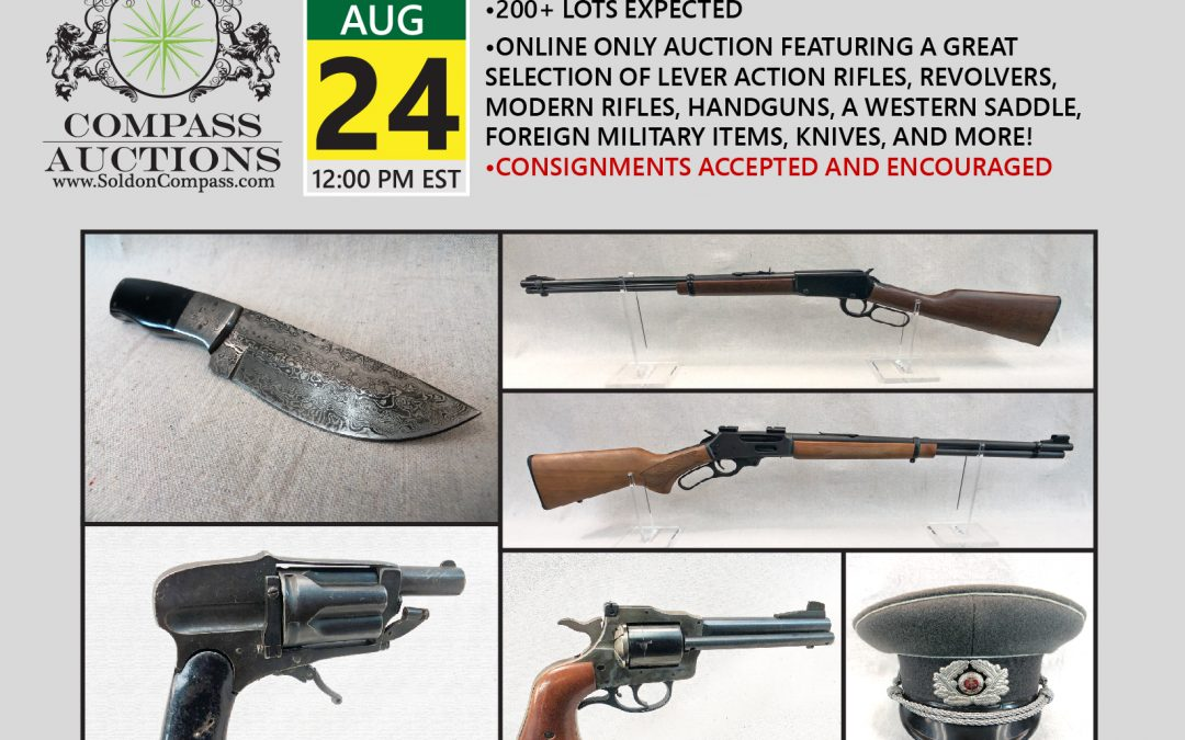 Antique, Collectible, Western, Black Powder, Powder Horns, Old Ammo, Knives and More Auction