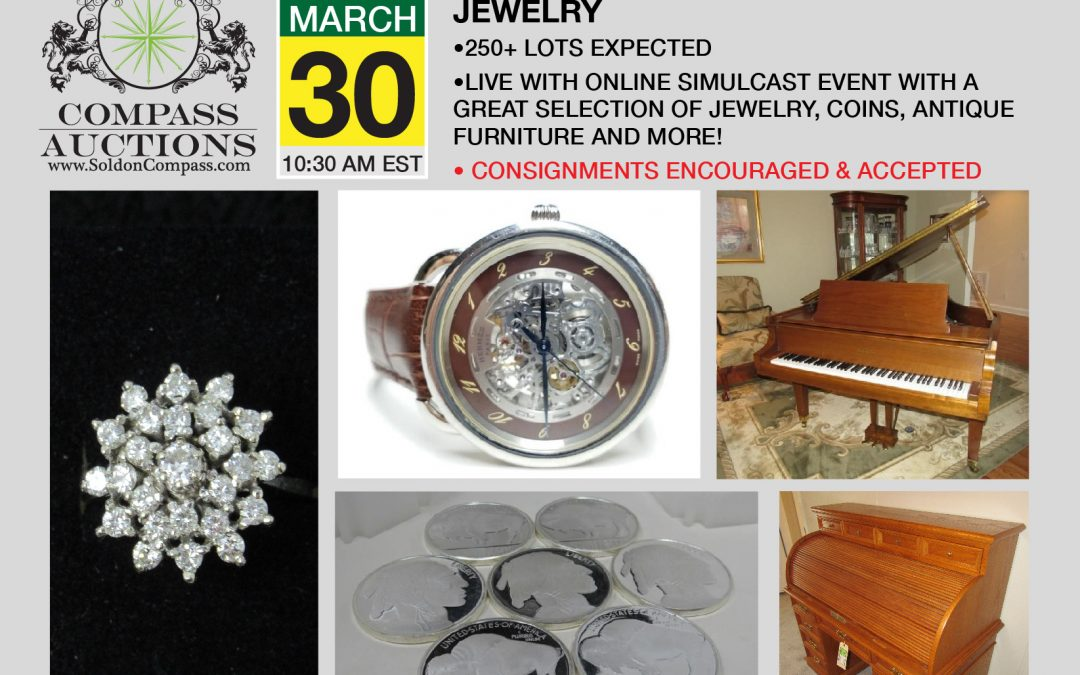 Online Estate Furniture, Coins and Jewelry Auction