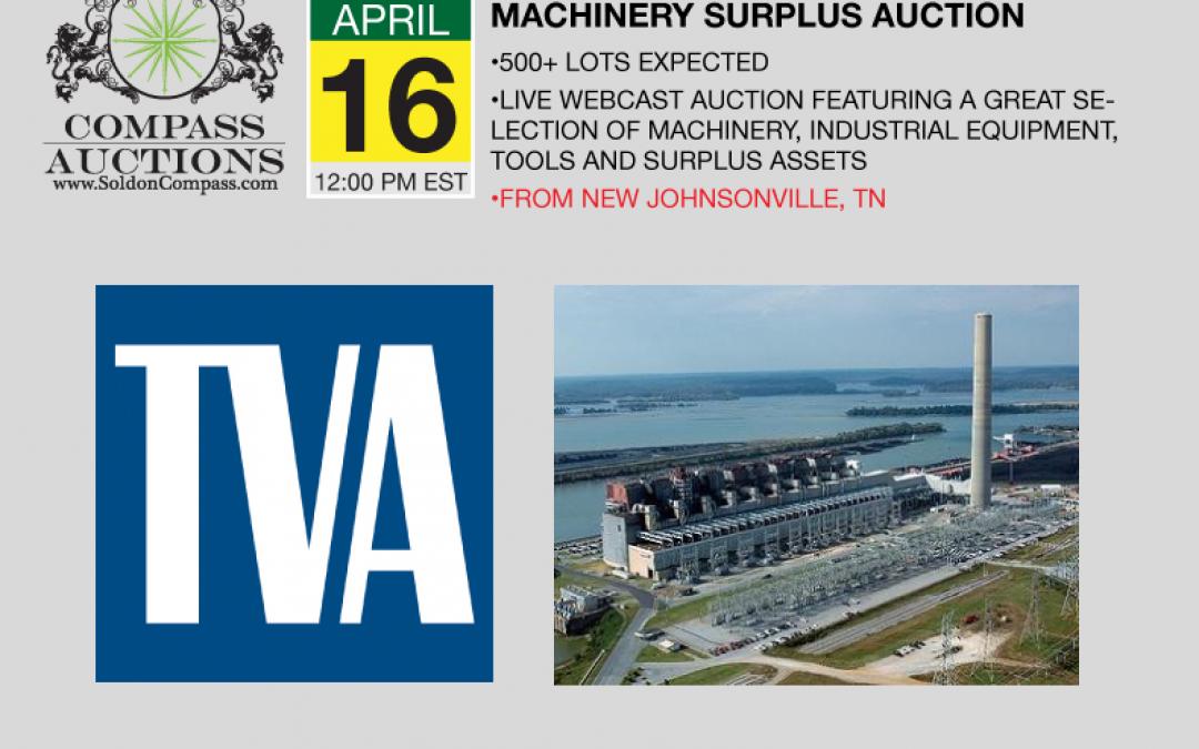 TVA Johnsonville Machinery and Store Room Surplus