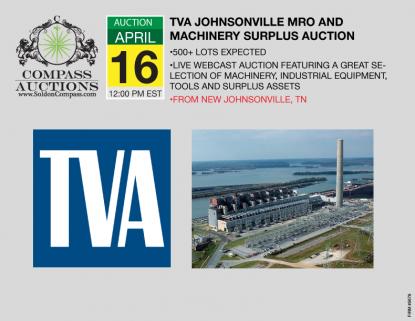 TVA auction online bidding April 2019 Machinery Surplus Assets Government