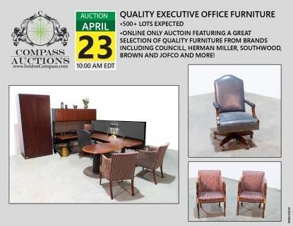 Compass Auctions Online Executive Office Furniture April 2019
