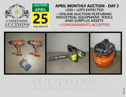 April monthly online auction Compass