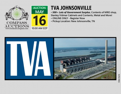 TVA Johnsonville May 16 2019 online only public auction government surplus