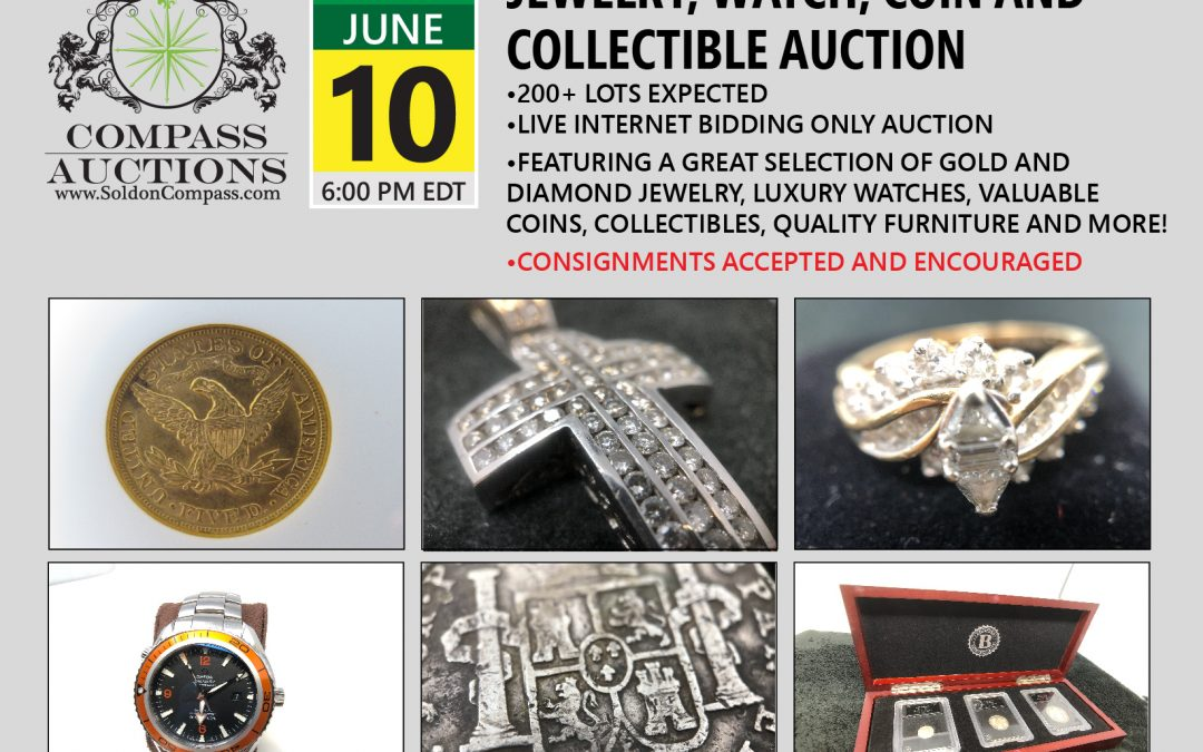 Jewelry, Watch, Coin and Collectibles Auction