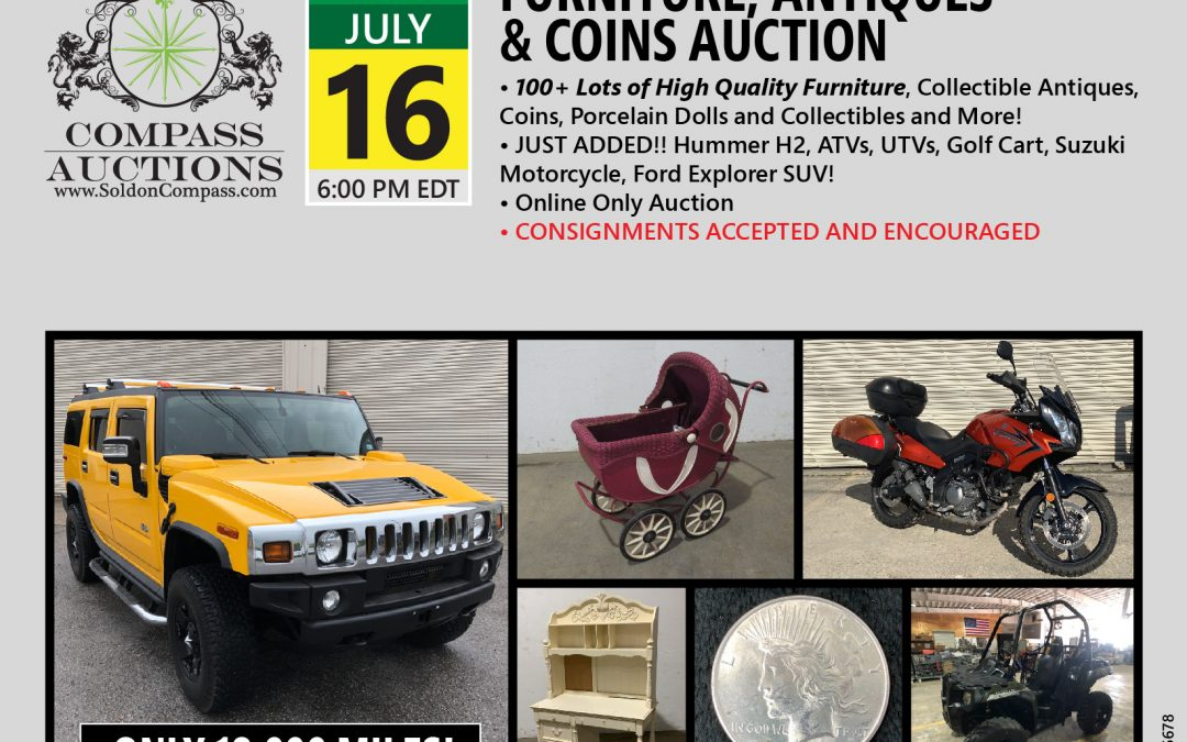 Furniture, Antiques and Coin Auction