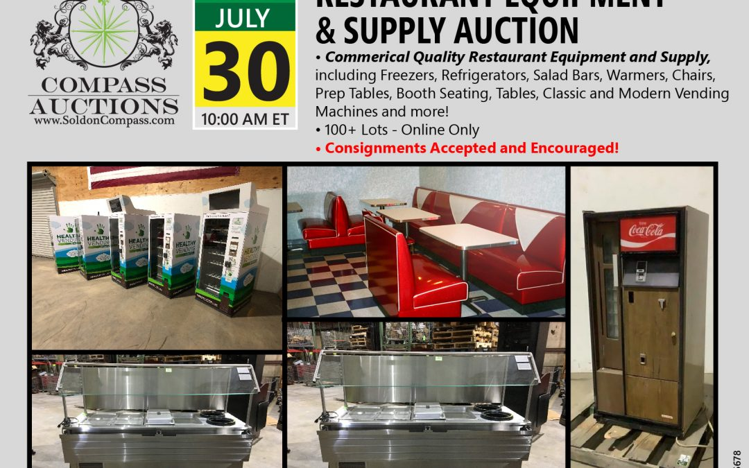 Restaurant Equipment and Supply Auction