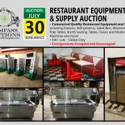July 2019 Restaurant Equipment Supply Auction