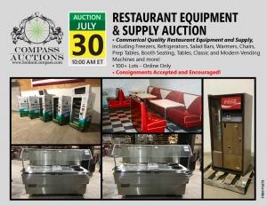 July 2019 Restaurant Equipment Supply Auction