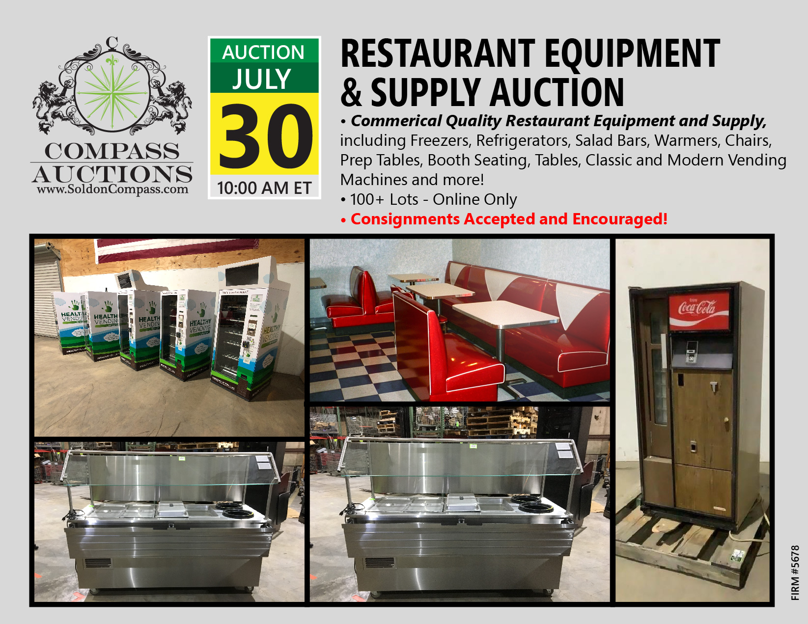 Restaurant Equipment And Supply Auction Compass Auctions