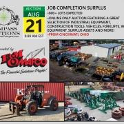 FM Mafco construction Job completion surplus online auction tools