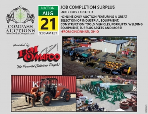 FM Mafco construction Job completion surplus online auction tools