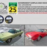 September public auction compass collectible cars thunderbird mustang