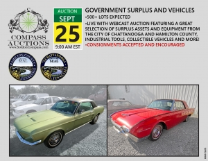 September public auction compass collectible cars thunderbird mustang