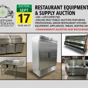 September 2019 restaurant equipment public auction